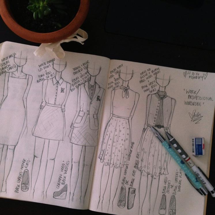 Natasha Dearden - Wardrobe Illustration