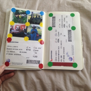 Images of Natasha's travel journal for her 2014 NYC and Connecticut holiday!