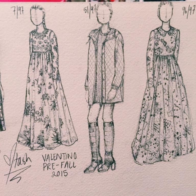 Natasha Dearden - Quick Sketch Valentino Pre Fall 2015