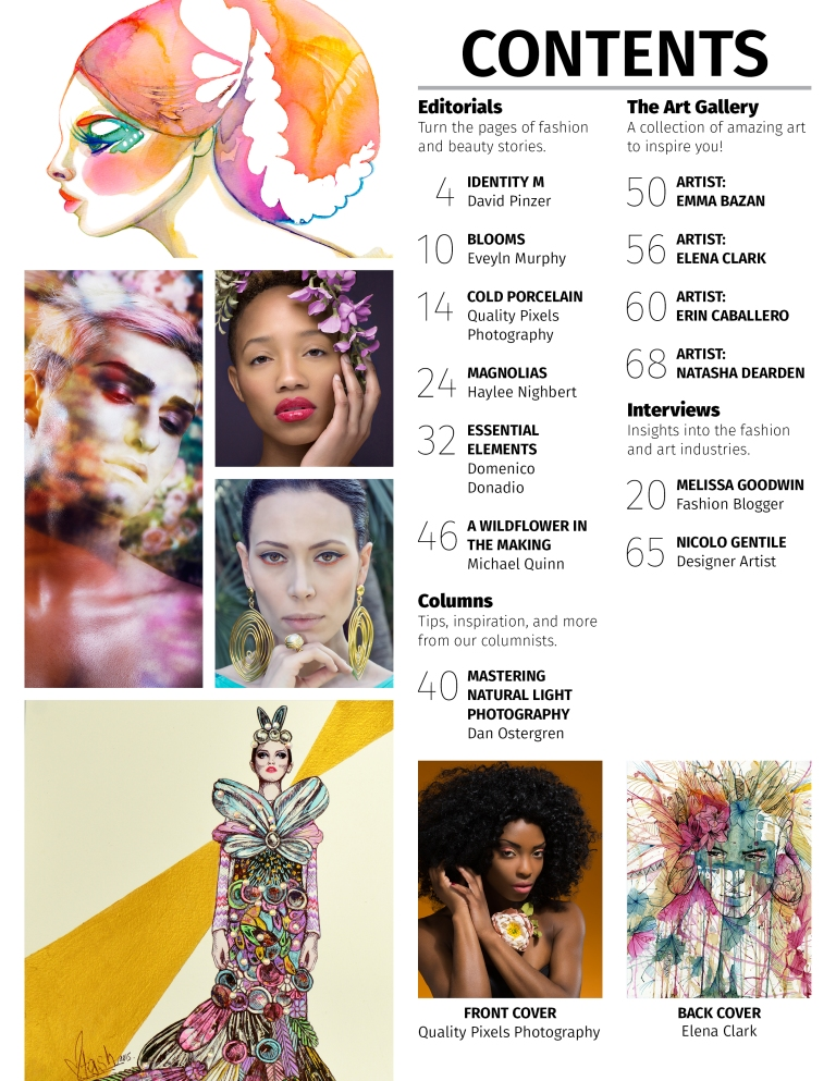 Avari Magazine -Flora, April 2015 with artist feature on Natasha Dearden