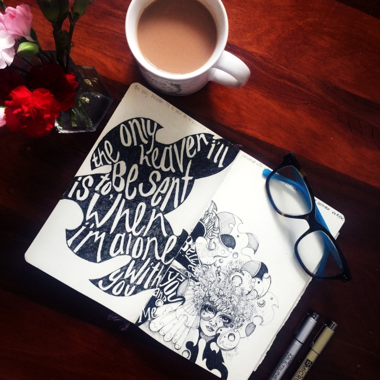 Natasha Dearden Sketchbook Flatlay Lyrics